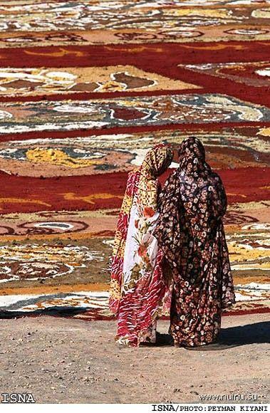 гигантский ковер из песка