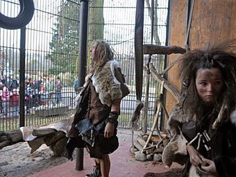 пещерные люди в варшавсом зоопарке
